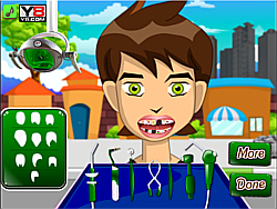 Ben 10 at the dentist game
