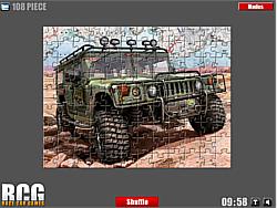 Hummer Jigsaw game