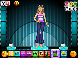 Zoe with Barbie dressup game
