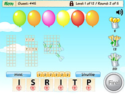 Words Need Darts game