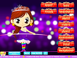Tightrope Walker Dressup game