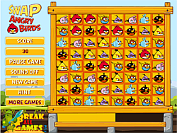 Angry Birds Matching Swap game