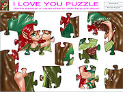 I Love You Puzzle game