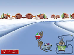 Christmas Race game