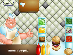 The Great Burger Builder game