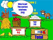 Jogar jogo grátis Farm Stand Math