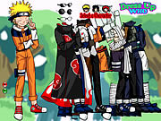 Naruto and Frieds Dress Up game