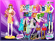 Disco Dress Room game