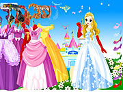 Play Wonderland gown dressup Game
