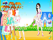 Blue House Spring Dressup game