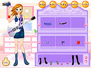 Guitar Girl Dressup game