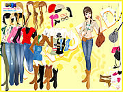 Play Cowboy boots dressup Game