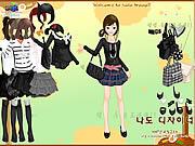 Play Black fashion dress up Game