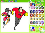 Chơi The Incredibles Colorbook miễn phí
