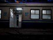Watch free cartoon Train leaving a Train Station