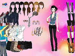 Play Fashion Boots Dress Up game online Y8