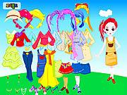 Permainan Colorful Doll Dressup