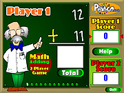 Two Player Math Game game