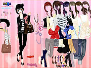 Pink Chique Dress Up game