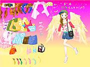Play Fashion angel dress up Game