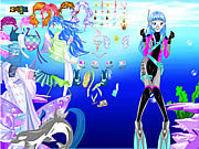 With Ocean Inside Dress Up game