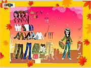 jeu Autumn Post Card Dress Up