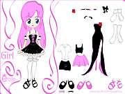 Kiss Doll Dress Up game